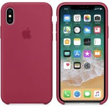 Apple iPhone X Rose Red Silicon Case Ultra Slim  Great Handling Original Cover