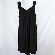 Motherhood Maternity Dress Sz L Black Sleeveless Stretch Polyester Rayon Knit