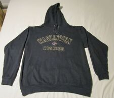 Vintage Foot Locker UW Dawgs Washington Huskies Black Hoodie Pullover Size 2XL