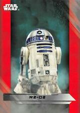 Star Wars The Last Jedi (2017) SILVER PARALLEL Base Trading Card #13 R2-D2 10/99