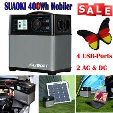 SUAOKI 400Wh Mobiler Energiespeicher Solar Generator AC Steckdose Auto USB Ports