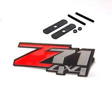 1x Matt Red GENUINE Grille Z71 4x4 Emblem GM Chevrolet Silverado Sierra Tahoe FU