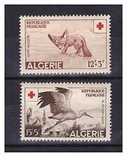 ALGERIE. N° 343/344 .  2 VALEURS CROIX ROUGE   NEUVES   **   .SUPERBE .