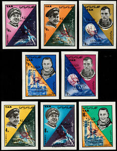 ✔️ YEMEN YAR 1966 - SPACE LUNA IX  - SC.6640/6647 IMPERFS  ** MNH [YAR.494B]