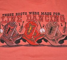 Vintage Cowboy Boots Country Western T-Shirt Sz Large Line Dancing Single Stitch