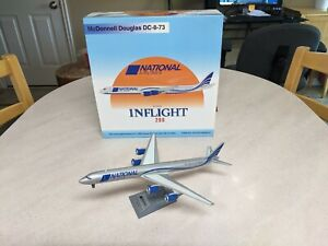 Very Rare, Mint 1/200 Inflight 200 National Airlines DC-8-73 Cargo Airliner
