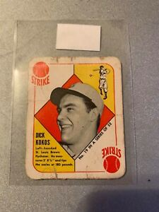 1951 TOPPS RED BACK #19 DICK KOKOS CARDINALS FAIR D023910