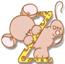MICE ALPHABET 31  MACHINE EMBROIDERY DESIGNS CD or USB