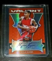 2017- 18 Leaf Valiant KYLE KUZMA Orange Refractor Rookie RC AUTO #'d/35!🔥💍📈