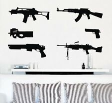 Gun Pattern Removable Wall Art Decal Vinyl Sticker Mural Home Decor Deco Kids