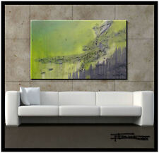 Abstract Painting Modern Canvas Wall Art Framed Large  US ELOISExxx
