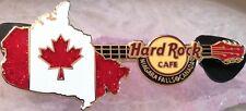 Hard Rock Cafe NIAGARA FALLS 2013 CANADA Map Maple Leaf Flag Guitar PIN #75826