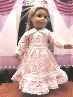 "Doll Clothes 18"" Victorian Red and White Dress Fits American Girl Dolls"