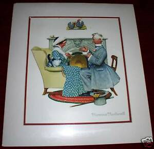 Vintage PR.Sweet Norman Rockwell First Edition FiguresStatues Fathers Day.Mint.8x8.