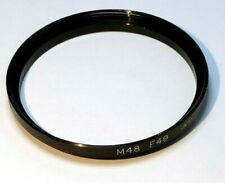48mm to 49mm Step-up ring Metal adapter double threaded for lens filter