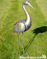 Large 80cm Heron Bird garden pond ornament decoration statue verdigris effect