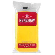Yellow Renshaw Ready To Roll Icing Fondant Cake Making Regalice Sugarpaste 1Kg