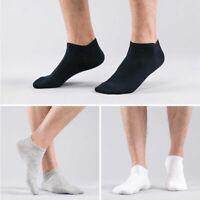 6 Pairs Men Ankle Cotton Blend Socks Classic Low Cut Crew Casual Sport Sock Soft