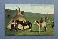 1910 Canada SARCEE INDIAN Postcard ~ MUTSINAMAKAN AND SQUAWS