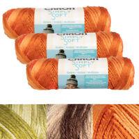 3pk Caron Simply Soft 100% Acrylic Yarn Medium #4 Knitting Crocheting Skein Soft