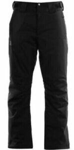 BNWT Salomon Rise Ski Pants Trousers Mens Black Skiing UK Size XL RRP £119 #7