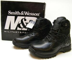 NEW SMITH WESSON M&P GUARDIAN XLMPMID WATERPROOF MILITARY POLICE BOOTS BLK 7.5 M