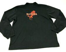 VITNAGE Natrona Mustangs Shirt Men's Size 2XL XXL Black Orange Long Sleeve Mock