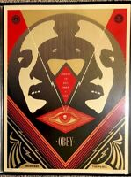 Shepard Fairey Obey I SEE STATIC INCREASE PEACE Signed Numbered Screen Print