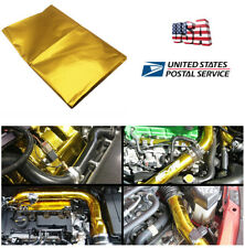 USPS Shipping SELF ADHESIVE REFLECT A GOLD HEAT WRAP BARRIER FOR THERMAL EXHAUST