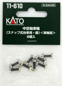 Kato 11-610 Hollow Shaft Wheel (for Snap Type Bogie) Silver (Short Axle)