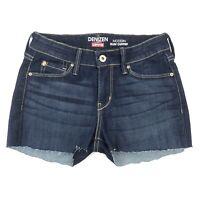 """Women's Denizen By Levis Size 2 Dark Wash Cut Off Shorts Stretch 26"""" Waist"""