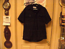 Urban Defender  Blk Short Sleeve Shirt, No Patches, Zippered Front, Size Large?