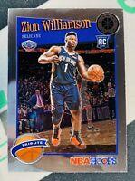 2019-2020 NBA Hoops Premium Stock Zion Williamson Tribute Rookie RC #296