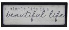 Simple Life is Beautiful Farmhouse Sign Shelf Sitter Rustic Wall Art Decor Print