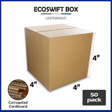 50 4x4x4 Ecoswift Brand Cardboard Box Packing Mailing Shipping Corrugated