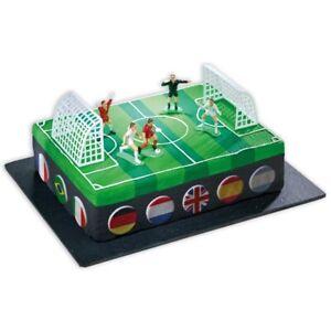 Dekoset für Fußballkuchen, Tortendeko +Fußball Tore +Spieler
