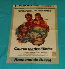 original RACE WITH THE DEVIL Belgian movie poster Peter Fonda Warren Oates