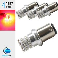 4x 1157 High Power Bright Red Front Turn Signal Blinker 48-LED Lamp Light Bulbs