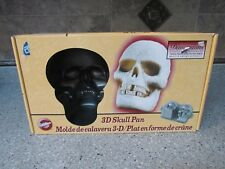 Wilton Cake Mold Skeleton Skull Non Stick Surface Halloween 3D Cake Heavy Pan