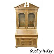 Chapman Italian Neoclassical Burl Wood Patchwork Olivewood Tall Secretary Desk