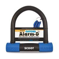 Oxford Alarm D Scoot 200mm x 196mm x 16mm Alarm Motorcycle U Lock Security LK358