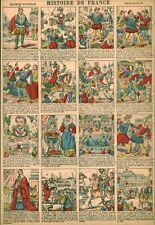 Gravure ancienne  image d'Epinal histoire de France feuille no 10