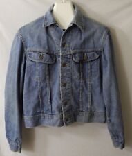 Vintage Lee Set Riders Sanforized Denim Jacket Coat Trucker Small Medium