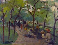 Prospect Park by American  George Luks. Canvas City Art.  11x14 Print