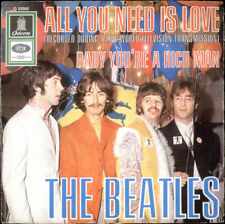 """THE BEATLES ALL YOU NEED IS LOVE (LIVE) original german  7"""" single ODEON 23560"""