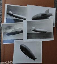 original  Foto  Luftschiff Graf Zepellin Magdeburg  30 er Jahre 5 Bilder