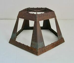 Vintage Metal Table Lamp Shade Craftsman Steampunk Shabby Chic Industrial Rust