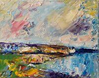 Sea Shore Ocean Landscape Seascape Collectable Texture Impasto Oil Painting