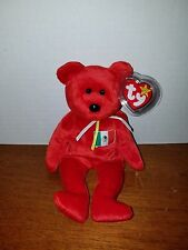 Ty Beanie Baby Osito Mexican Flag Bear RARE w/ Yellow & White Ribbon with Errors