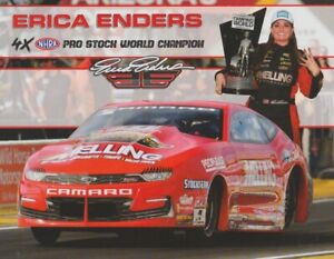 2021 Erica Enders Melling Chevy Camaro Pro Stock NHRA Hero Card